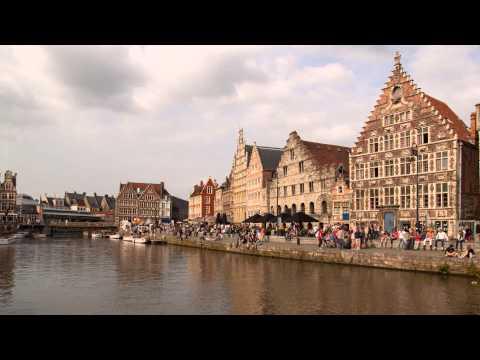 Zeitraffer Graslei Gent Belgien