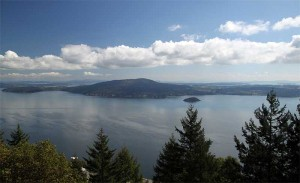Aussicht am Malahat Lookout