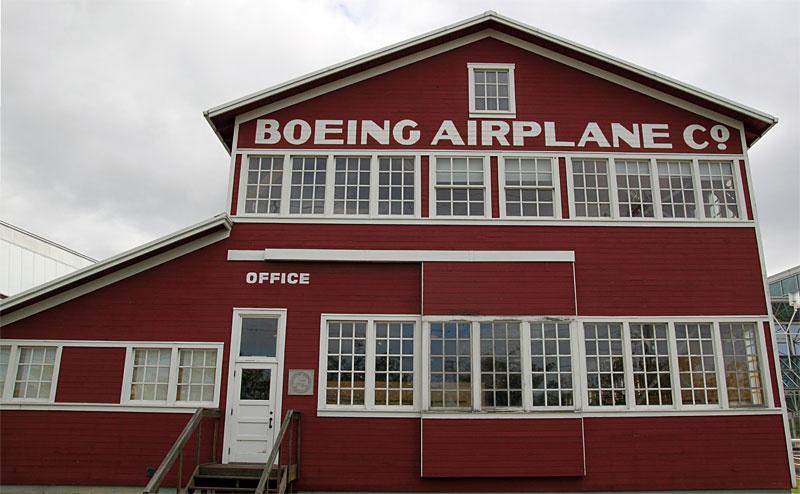 """""""Red Barn"""", das erste Gebäude der Boeing Airplane Co."""