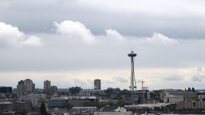 Die Skyline von Seattle mit der Space Needle