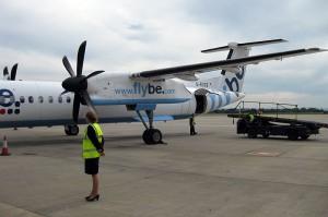 Die G-ECOZ nach der Landung in Manchester