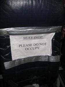 Defekter Sitz