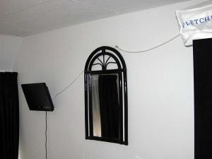 Fliegende Antennenleitung
