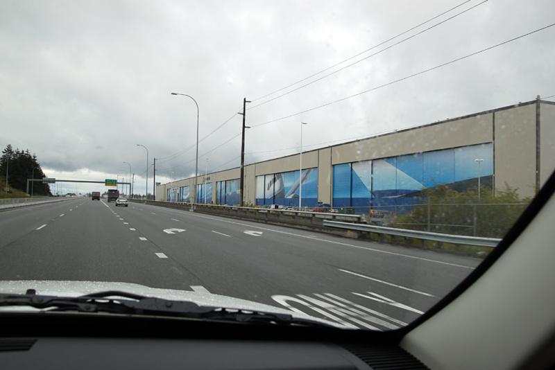 Anfahrt auf das Boeing-Werk