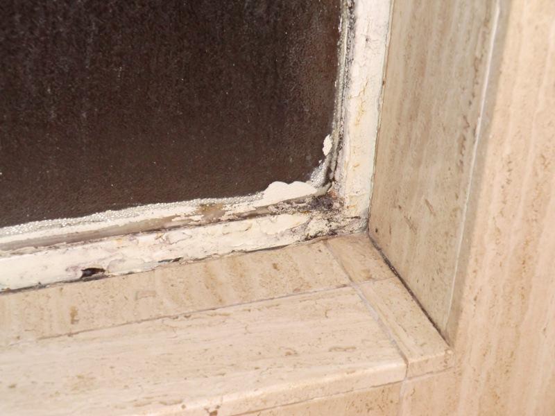Badezimmerfensterschimmel