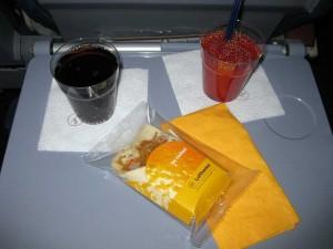 Mein Menü - Cola, Tomantensaft und der Wrap