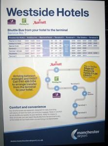 Fahrplan und Preistabelle des Shuttle-Buses zum Hotel