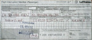 Das Flug-Ticket für FlyBe