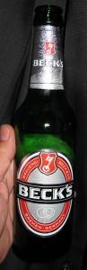 """Mein """"Catering"""": Eine Flasche Becks"""