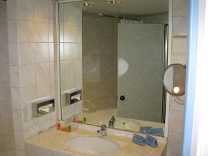 Blick ins Bad - der Waschtisch