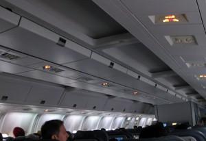 Das Interieur der Boeing 767 (C-FCAG)