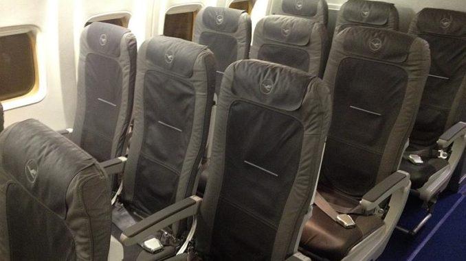 """Die neuen Sitze der """"Neuen Europa Kabine"""" (NEK) bei Lufthansa"""