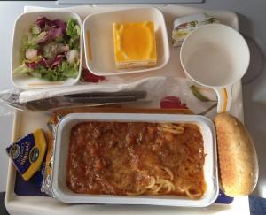 Spaghetti auf LH 436, DUS-ORD im März 2012