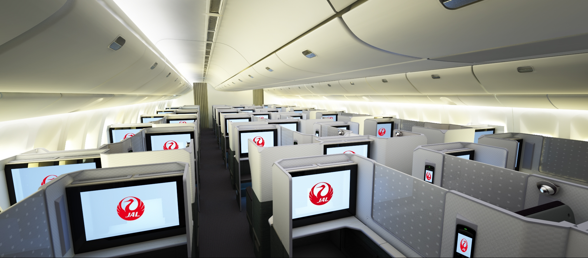 Blick in die neue JAL Business Class