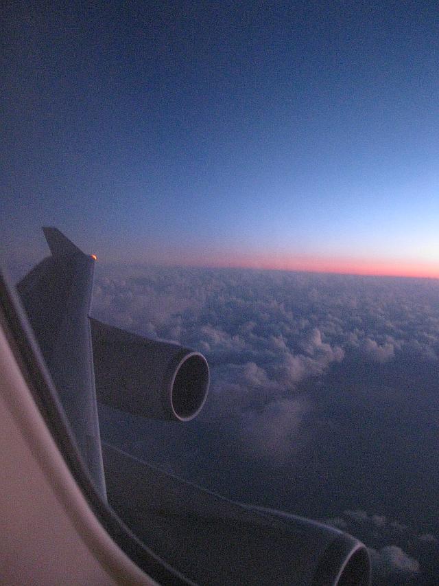 Über den Weiten des Atlantiks. Aufgenommen an Bord eines Air New Zealand-Fluges (LHR-LAX) im Januar 2011