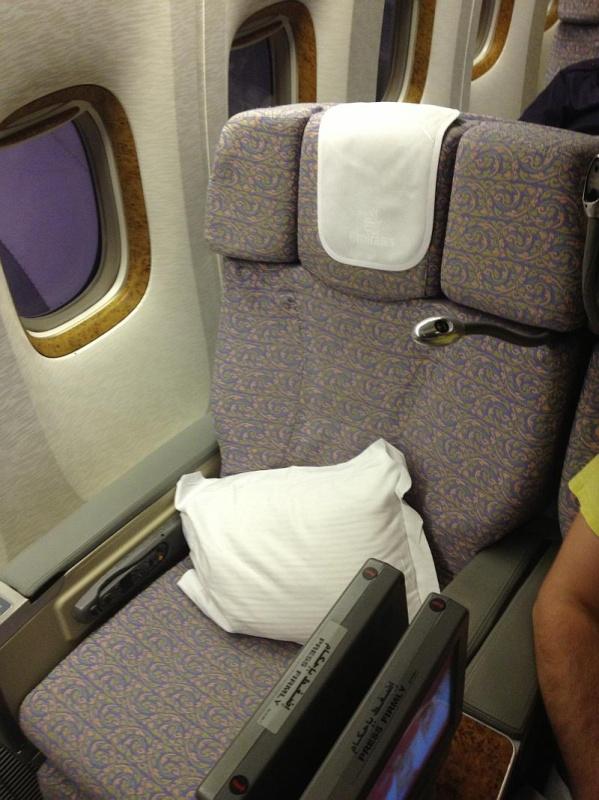 Sitz 10K auf dem Flug EK58 von Düsseldorf nach Dubai