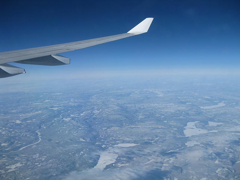 Über den weiten Nord-Kanadas auf dem Weg nach Newark.