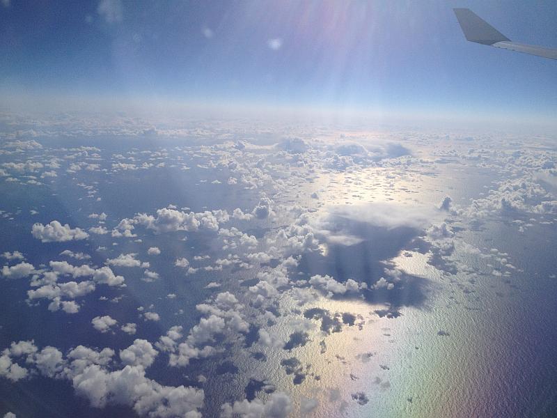 Auf dem Weg nach Chicago über dem Atlantik