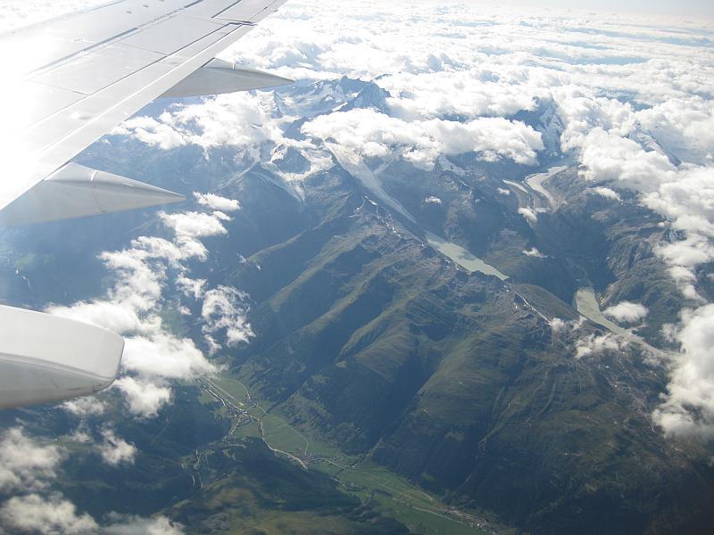 Über den Schweizer Alpen