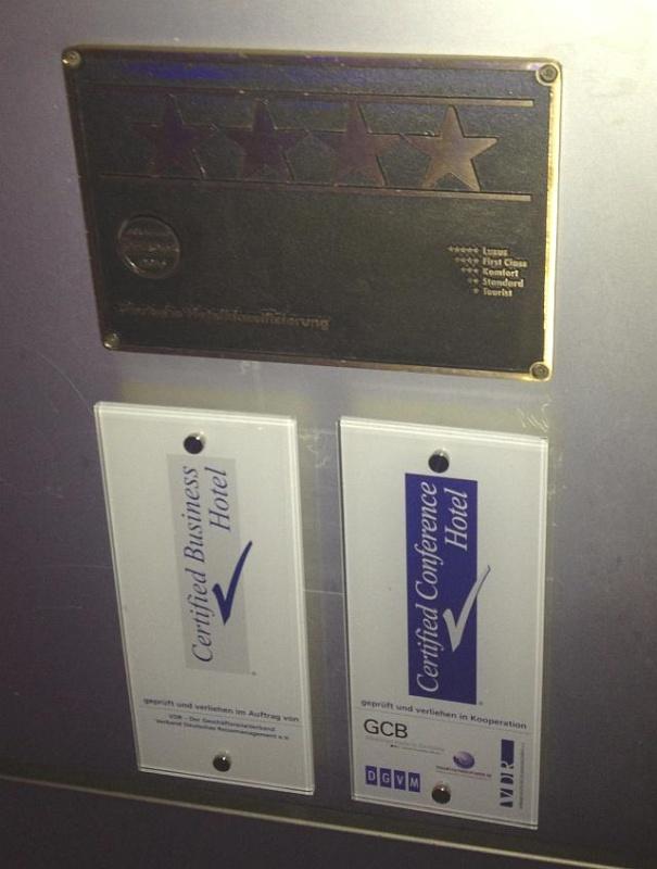 Vier Sterne und die Zertifizierung als Business Hotel