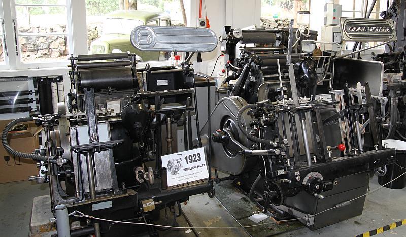 """Zwei Heidelberg """"Tiegel"""" im Print Shop von MOTAT 1"""