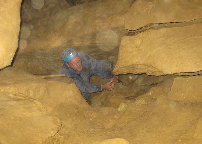 Kletterpartie im Untergrund von Budapest