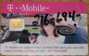 Das Objekt der Begierde: Eine US-Prepaid-SIM-Card