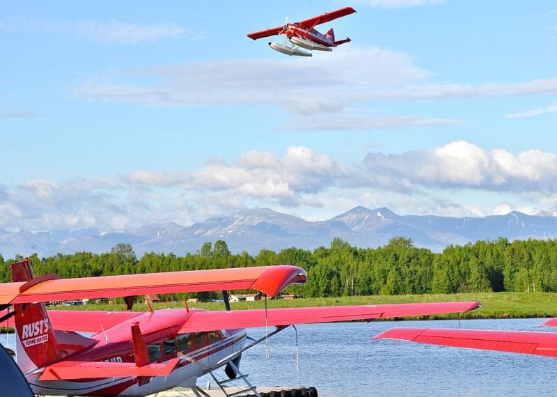 Vielleicht fliege ich zum ersten Mal mit einem Wasserflugzeug (Foto: Visit Anchorage, Roy Neese)