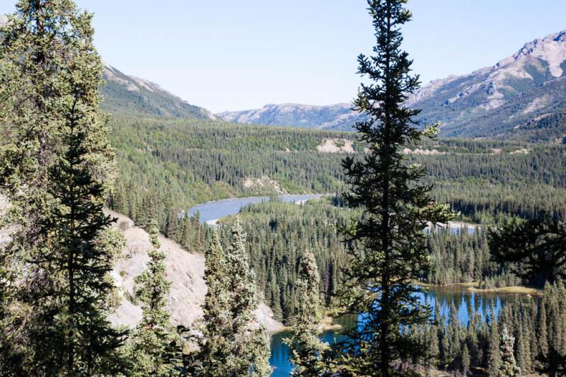 Blick von oben auf den Horseshoe Lake