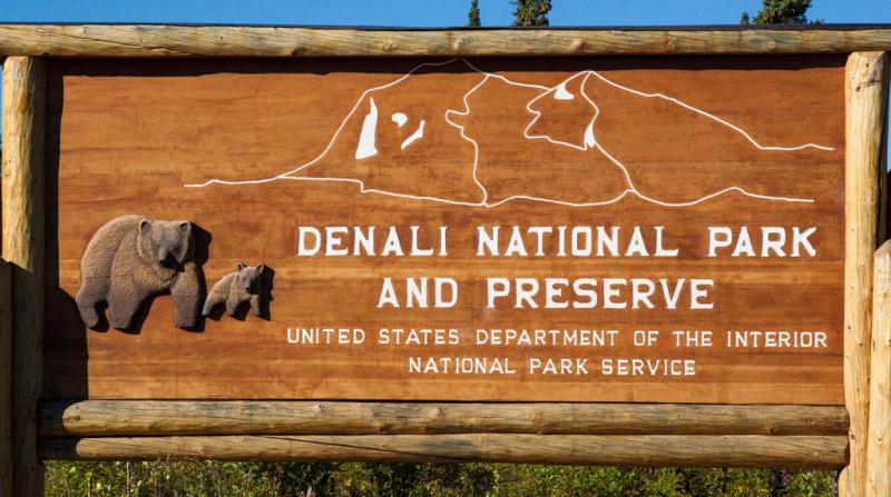 Eingang zum Denali National Park