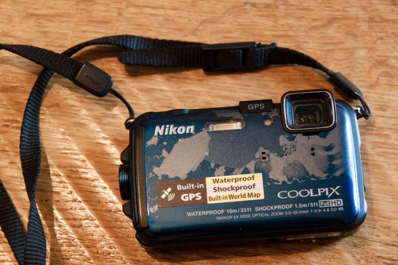 Die gerettete Kamera - von außen ein wenig mitgenommen