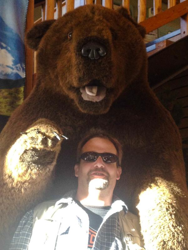 Der Bär und ich: Die erste Begegnung hatte ich im Gift Shop am Denali National Park
