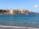 Der Privatstrand des Interconti Malta an der St. Georges Bay