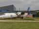 Der Eingang Aviodrome mit dem Prototyp der Fokker 50 (PH-OSI)