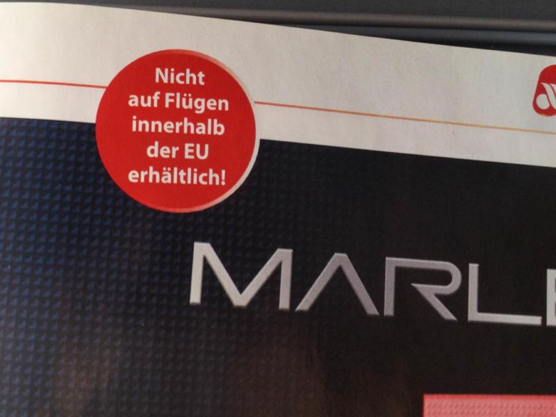 Kein Zigarettenverkauf auf Flügen innerhalb der EU - und wo fliege ich gerade hin?
