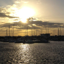 Sonnenuntergang in Helsingborg