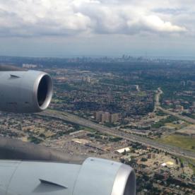 Der Landeflug auf Toronto war einfach toll