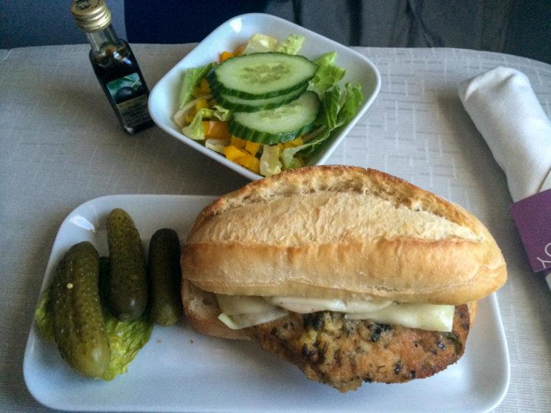 Das Sandwich kurz vor der Landung in Atlanta