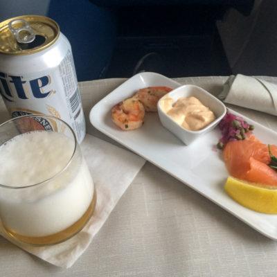 Die Vorspeise auf dem Hinflug