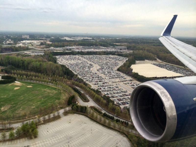 Landung in Atlanta