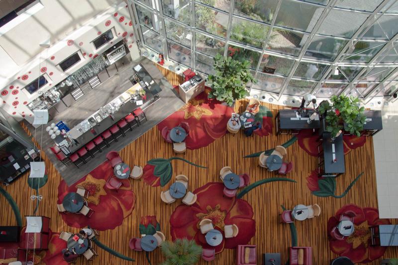 Die Lobby des Gent Marriott