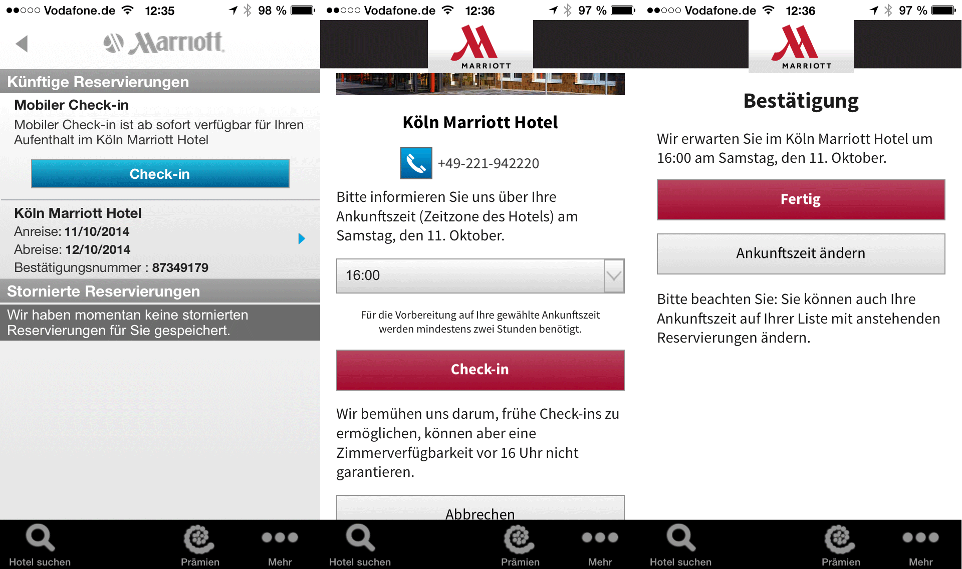 In recognition of its increasingly connected mobile guests, Marriott Hotels is rolling out mobile check-in at hotels in the United States and Canada. Marriott Rewards members can check-in after 4 p.m. the day before their arrival and will receive an automatic notification when their room is ready.