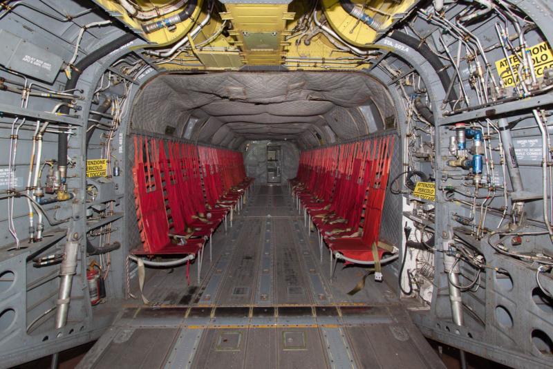 Laderaum einer Boeing-Vertol CH-47