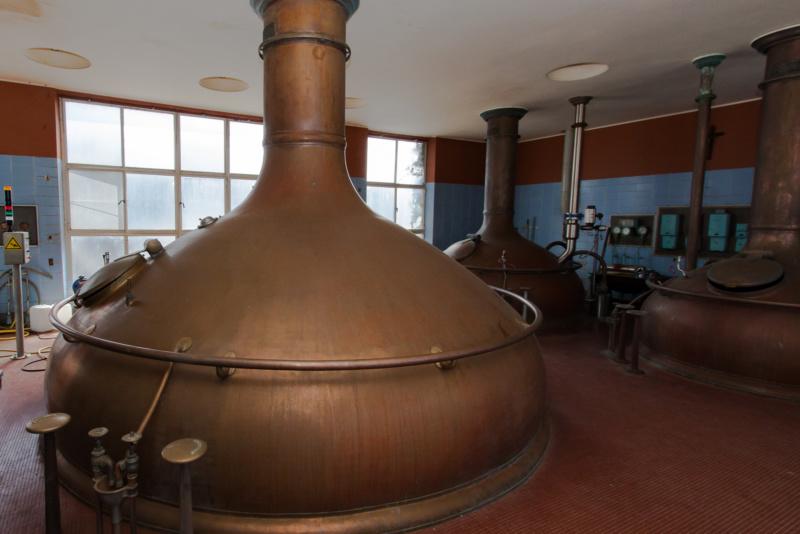 Der Brausaal der Brauerei Het Anker
