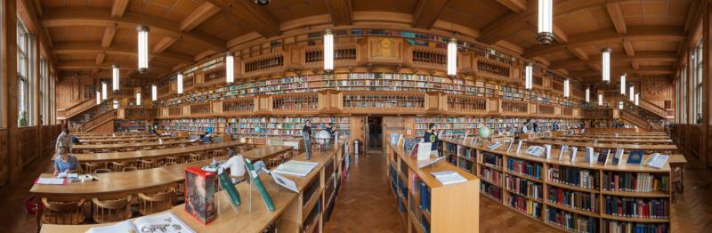 Der Lesesaal der Universitäts-Bibliothek von Leuven