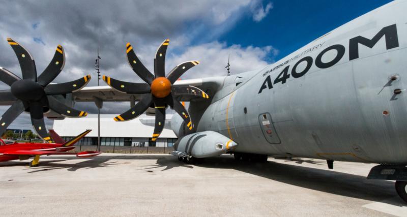 Die imposanten Propeller des Airbus A400M