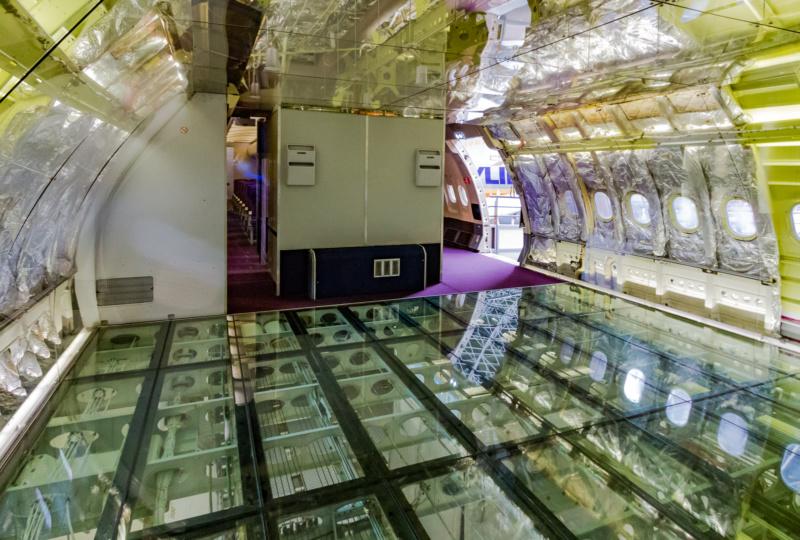 Gläserner Kabinenboden im Airbus A300