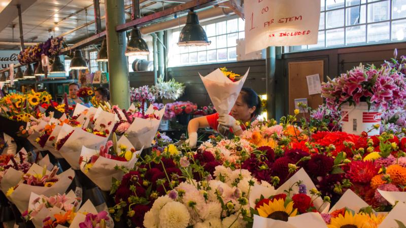 Blumen auf dem Pike Place Market