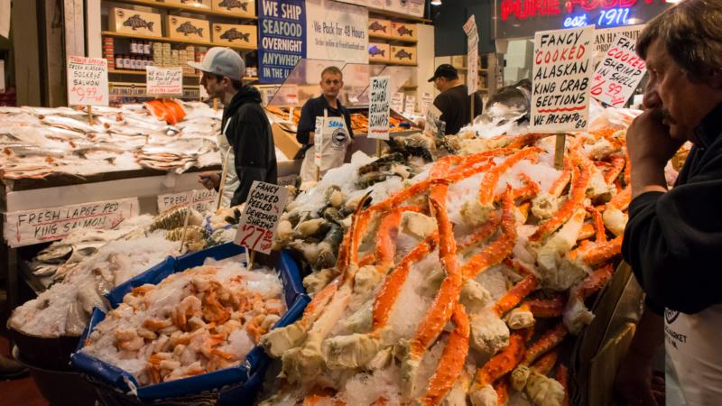 Meeresfrüchte in Hülle und Fülle