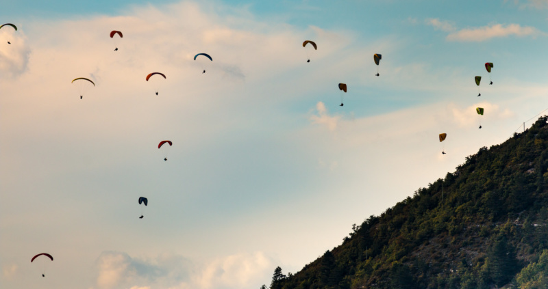 Paraglider am Puncho d'Agast